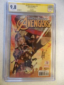 UNCANNY AVENGERS # 13 MARVEL EXCLUSIVE VARIANT CGC SIGNED BY ADAM HUGHES9.8