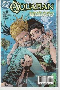 Aquaman(2003) #  13  Requiem through a Rolling Sea