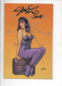 BETTIE PAGE #5 E, VF/NM, Signed by Joseph Linsner, 2017, Betty, Virgin Variant