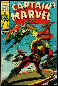 CAPTAIN MARVEL #9 1969-MARVEL COMICS FN