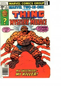 Marvel Two-In-One 31 VG/F   Mystery Menace, Spider-Woman!