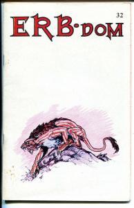 ERB-Dom #32 1970-Edgar Rice Burroughs fanzine-Tarzan-John Carter-FN
