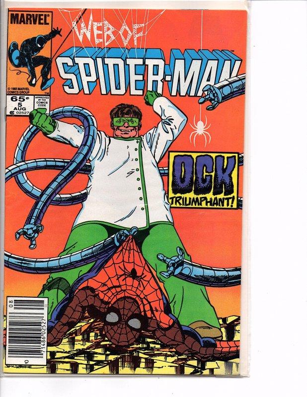 Marvel Comics (1985) Web of Spider-man #5 Doc Ock John Byrne Cover