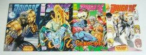 Brigade #1-4 VF/NM complete series w/coupon + (6) cards - 1st appearance liefeld