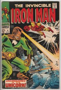 Iron Man #4 (Aug-68) VG/FN+ Mid-Grade Iron Man