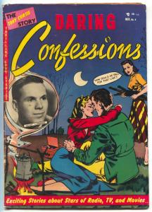 Daring Confessions #4 1952-1st issue- Tony Curtis- headlight cover