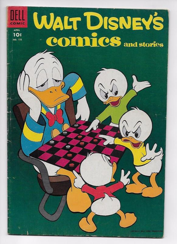 Walt Disney's Comics and Stories #175 - Golden Age Classic (Dell, 1955) - VG/FN