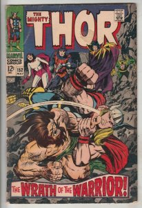 Thor, the Mighty #152 (May-68) FN/VF Mid-High-Grade Thor