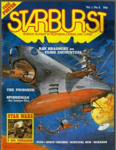Starburst Sci Fi Magazine #2 (1978) w/ C-3PO & Ray Bradbury interview