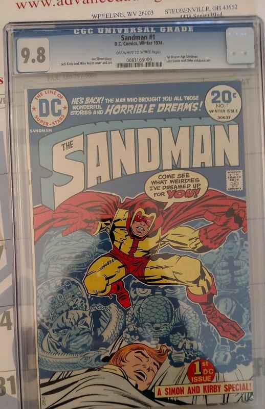 Sandman #1 (Winter 74, DC) CGC 9.8 NM/MT