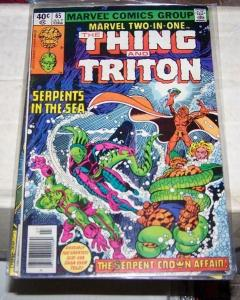 Marvel Two-In-One #65 (Jul 1980, the thing + trition inhumans serpent crown #2