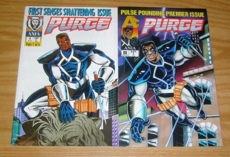 Purge #0-1 VF/NM complete series - ania black super hero - afrocentric set