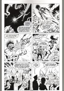 RONN SUTTON ELVIRA #148 ORIGINAL ART PAGE 13-BLACKHAWK PARODY--QUEEN 'B PROD FN