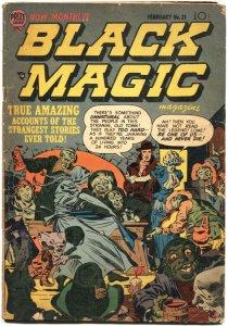 BLACK MAGIC #21-1953-PRE CODE HORROR-JACK KIRBY AND JOE SIMON ART-PRIZE COMICS