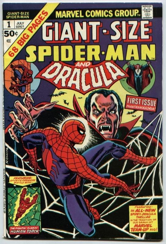 Giant-Size Spider-man #1 NM- 9.2  Dracula; the Human Torch  ++ Marvel 1 book lot