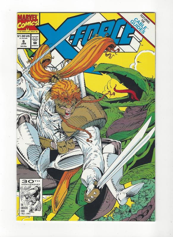 X-Force #6 Shatterstar vs Sauron NM