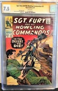 Sgt. Fury #37 (Marvel, 1966) CGC 7.5 SS Stan Lee