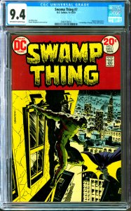 Swamp Thing #7 CGC Graded 9.4 Batman appearance