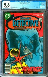 Detective Comics #474 CGC Graded 9.6 Deadshot, Wonder Girl & Penguin