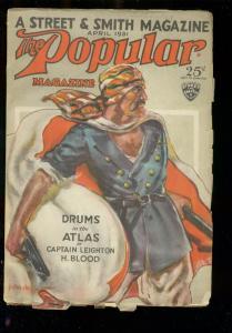 POPULAR MAGAZINE APRIL 1931-FOREIGN LEGION COVER VG