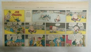 (18) Joe Palooka Sunday Pages by Ham Fisher 1947 Size: 7.5 x 15 inches