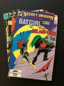 SET of 5-DC SECRET ORIGINS#20-24 BATGIRL, Jonah Hex, Blue Devil  F/VF(A125)