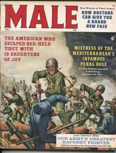Male 7/1961-Atlas-Korean War-cheesecake-James Bama-Walter Popp-FN MINUS