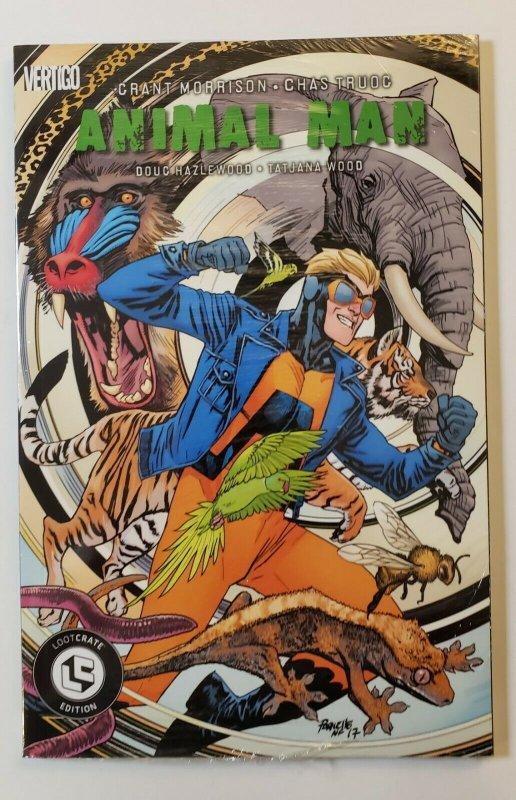 ANIMAL MAN LOOTE CRATE EDITION  SEALED TPB SOFT COVER VERTIGO DC GRANT MORRISON