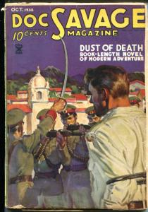 Doc Savage Pulp October 1935- Baumhofer cover- Dust of Death G