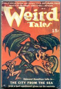 Weird Tales Pulp May 1940- Virgil Finlay-Hannes Bok- Clark Ashton Smith VG-