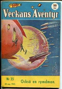 Jules Verne Veckans Aventyr Vol.6 #35 1945-Swedish-comics-Batman-Superman-VF