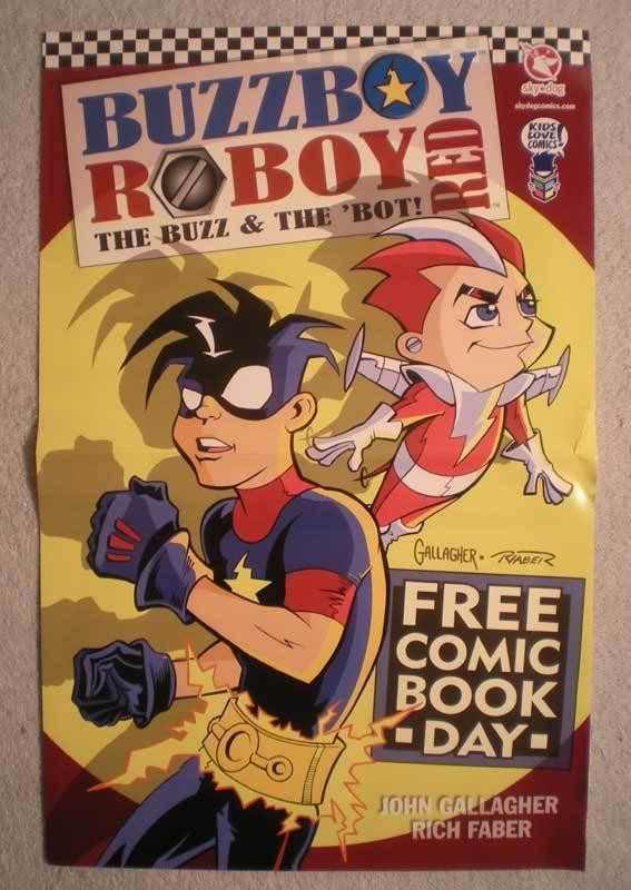 BUZZBOY / ROBOY RED Promo Poster, 11x17, Unused, more in our store