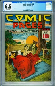 Comic Pages Vol.3 #4 CGC 6.5 1939 1st issue CENTAUR-2109538002