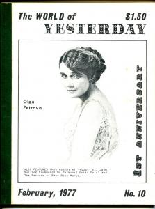 World of Yesterday #10 2/1977-Olga Petrova-Bulldog Drummond-FN