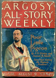 Argosy All-Story Weekly August 9 1924- Semi Dual- Modest Stein- Ray cummings