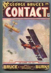 GEORGE BRUCE'S CONTACT 04/1934-WWI-BI-PLANE- TINSLEY-MODEL AIRCRAFT-good/vg