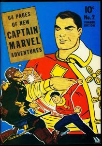 Flashback #15 1974- Captain Marvel Adventures #2 reprint rare golden age VF