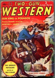 Two-Gun Western Pulp August 1938- Gringo Pistoleer- Gun King of Posados VG