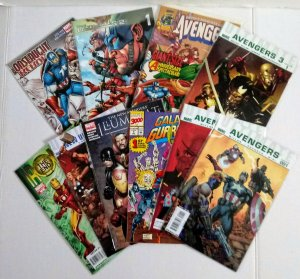 Marvel Comic Book Lot of (10) Captain America! Thor! Iron-Man! Punisher! ID#A88
