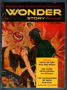 WONDER STORY ANNUAL 1951-SCI-FI-GREAT COVER-Nice VG