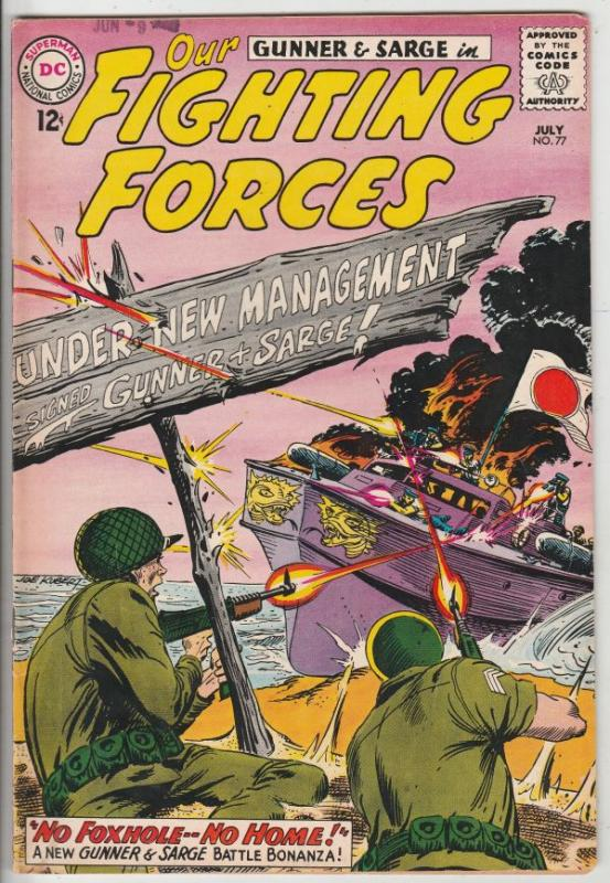 Our Fighting Forces #77 (Jul-63) VF/NM High-Grade Gunner