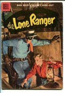 THE LONE RANGER #104 1957-DELL-DAN REID-SECRET HIDE-OUT-vg minus
