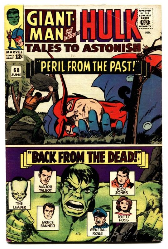 TALES TO ASTONISH #68 comic book-1965-HULK-SILVER AGE-MARVEL-VG/FN VG