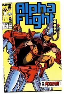 ALPHA FLIGHT #53-Jime Lee Wolverine art-Comic Book-1987