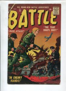 BATTLE #53 1957-ATLAS-JOE MANEELY-GENE COLAN-VG+