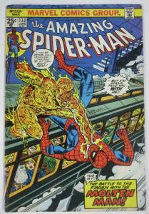 AMAZING SPIDER-MAN  #133 (Marvel,6/1974)VG- Molten Man! Conway & Andru