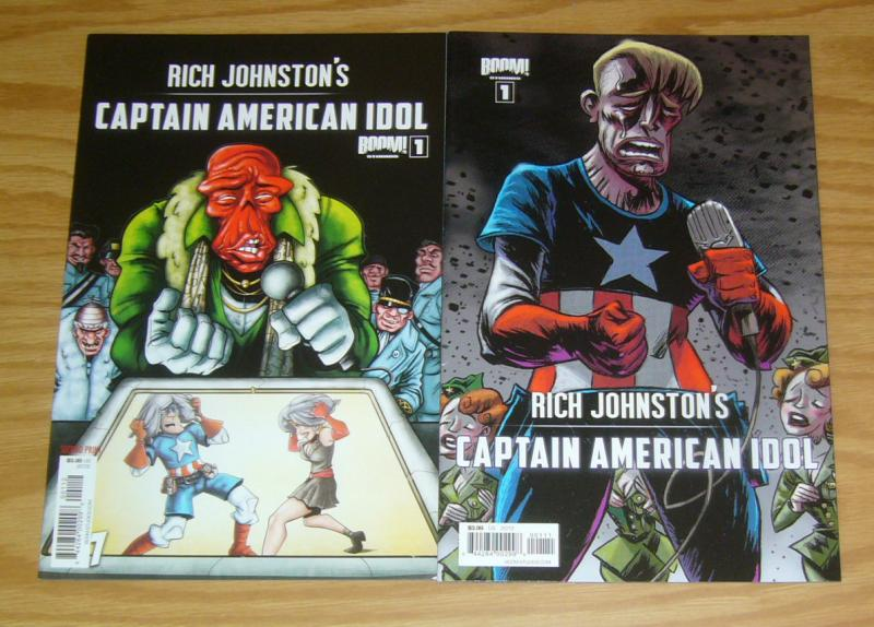 Rich Johnston's Captain American Idol #1 VF/NM captain america parody + variant
