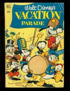 WALT DISNEY'S VACATION PARADE #2 1952 DONALD MICKEY GUS VG-