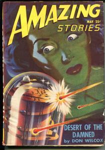 Amazing Stories 5/1947-Ziff-Davis-pulp sci-fi-Richard S Shaver-Teason-FN