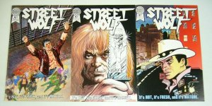 Street Wolf #1-3 FN/VF complete series 1986 BLACKTHORNE mark wayne harris set 2